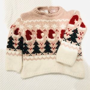 Pink Christmas knit sweater